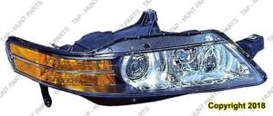 Head Light Passenger Side With HID Canada Type High Quality Acura TL 2004-2005