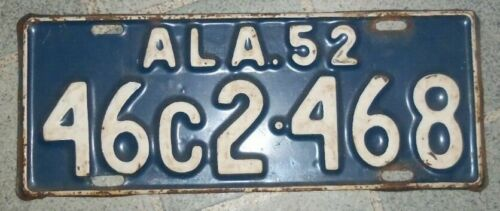 1952 ALABAMA~46C 2-468~ LICENSE PLATE<>TAG