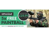 5 paintball tickets (Admission+Lunch)