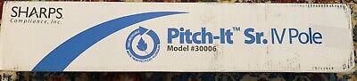 Sharps Pitch-it Sr Portable Collapsible Iv Pole Model 30006 Wheels