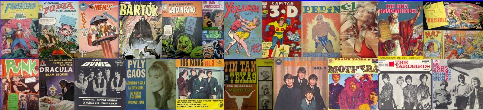 Ciadlo s Mexican comics and records