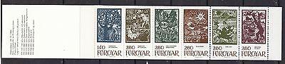 Färöer postfrisch 1984 Markenheft 2  Inhalt MiNr. 106-111  Märchenillustrationen