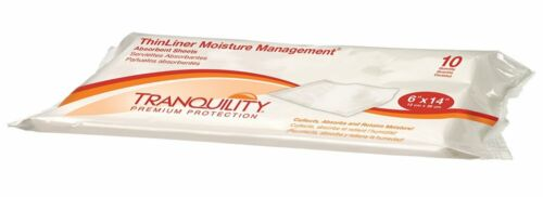 "Tranquility ThinLiner Moisture Management Sheet 6"" x 14"" (Pack of 10) # 3191"