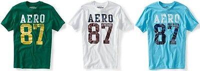 Aeropostale Mens Athletic Graphic Aero Logo T Shirt Tee Xs,s,m,l,xl,2xl