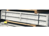 6ft x 1ft Long Recessed Concrete Gravel Board