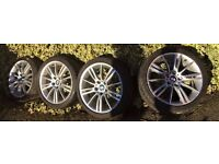 "4x Genuine 18"" MV3 Alloy Wheel Set Staggered 5x120 -BMW 3 Series E90/91/92/93"