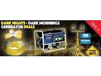 JEFFERSON 7hp PETROL GENERATOR AVR 3.0KW + LED SITE LIGHT + THROW LEAD + SPLITTER