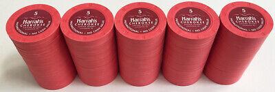 100 $5 HARRAH'S CHEROKEE PAULSON POKER CHIPS Paulson Poker Chips