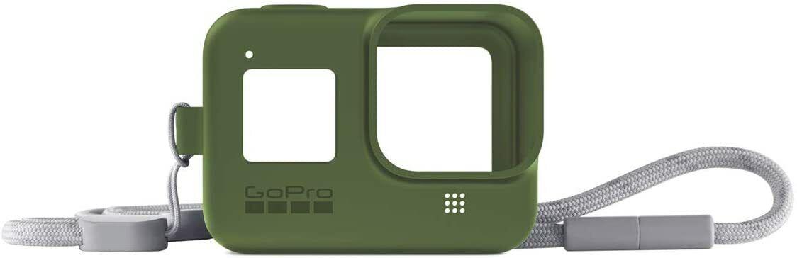 GoPro AJSST-005 Guaina di Protezione Verde con Cordino Compatibile con Hero8