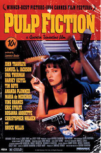 Quentin Tarantino's Pulp Fiction Cover Movie Poster