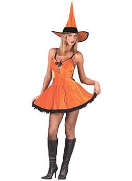 Spicy Halloween-kostüme (You Spicy Witch Orange Dress Up Sexy Halloween Adult Costume)