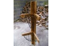 120cm Solid Wood and Iron Rustic Corner Fitting Garden Planter