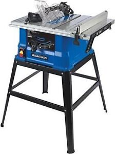 """10"""" TABLE SAW WITH SAFETY, KICKBACK, PUSH STICK LIKE NEW!"""