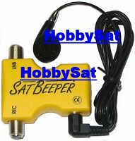 SatBeeper audible satellite alignment tool with earpiece.