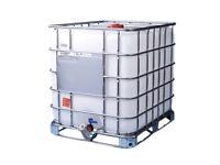 1,000 lt IBC water tank for fish, 120x120x100 cm