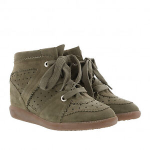 Isabel Marant Bobby -suede green -size 5