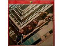 2 Beatle Albums, Red & Blue, Original LP on Vinyl.