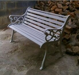 Heavy Duty Cast Iron Park Bench / Garden Bench / Conservatoire or Patio Bench