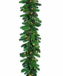 lighted christmas garlands