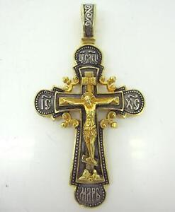 Russian cross ebay russian orthodox cross gold aloadofball Images