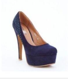 blue navy heels