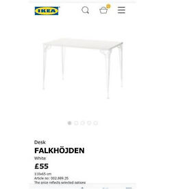 Ikea White Desk and Add on Unit