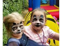 Mascot, face painting, glitter tattoos and balloon modelling