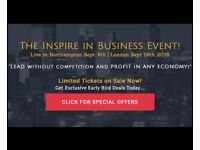 THE INSPIRE IN BUSINESS EVENT! LIVE IN NORTHAMPTON SEPTEMBER 9TH