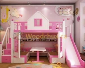 SLEEP & PLAY Twin Bed w/ Table & Benches .... ♥‿♥