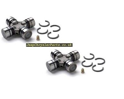 2 X DRIVESHAFT  FRONT AXLE U JOINT   ALL JEEPS FROM 1990 WITH ABS