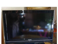 "Toshiba 42"" LCD TV with remote"