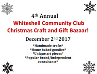 4th annual Whiteshell c.c. Christmas Craft and Gift Bazar