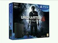PlayStation 4 Slim 500GB Black Console Uncharted 4 Bundle