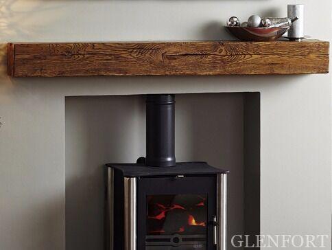 Oak Beam Fireplace Beams Stove Floating Mantel Stove