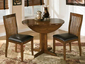 Dinette - 3 Piece Folding Mini Dining Table and two (2) Chairs
