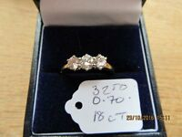 Ladies 3 stone Diamond ring