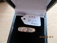 Ladies five stone diamond ring