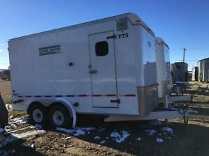 GAS WELL TESTING TRAILER Enclosed Insulated 2005 WREM 16' TA
