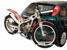 Galvanised motorbike towbar transport rack, trials bike, motocross bike etc