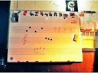 MUSIC WHITEBOARD, MAGNETIC SURFACE. LARGE 120 X 90CM SIZE. USEFUL FOR MUSIC TEACHER & MUSIC STUDENT