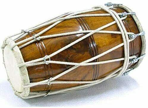 Sheesham Wood Studio Style Dhol/Dholak/Dholki Drum with Carry Bag