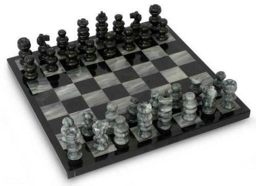 Marble chess set ebay - Granite chess pieces ...