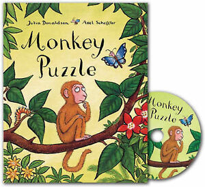 Monkey-Puzzle-CD-Book-Pack-Book-CD-Julia-Donaldson-Paperback-Book-NEW-9