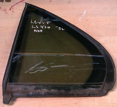 Lexus LS430 Passenger Side Rear WINDOW GLASS LS430 N/S/R QUARTER WINDOW