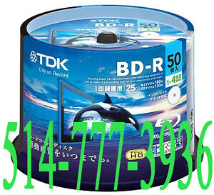 50 X Blu-Ray BD-R 25Gb TDK Vierges Double Layer Printable