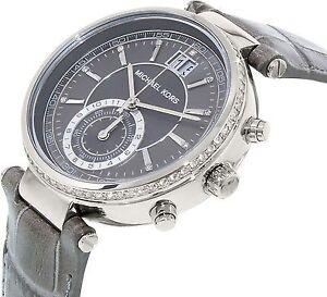 $380 Michael Kors Brand New Women's Sawyer Silver Watch MK2432