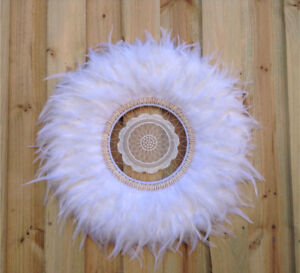 White juju hat style wall decoration Cremorne Point North Sydney Area Preview