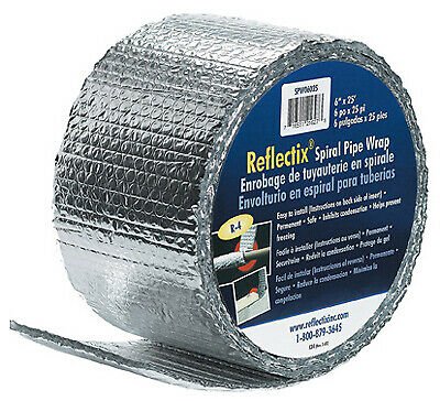 Spiral Pipe Wrap Standard Edge 6-in. X 25-ft.