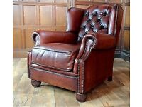 Oskar Wing Chesterfield Leather Armchair | RRP £1,099 | Delivery Avail