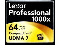 Memory Card CF LEXAR 64GB